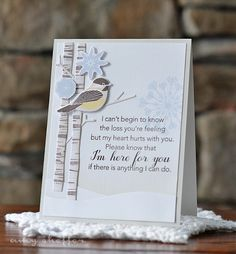 Here For You Card by Amy Sheffer for Papertrey Ink (November 2015)