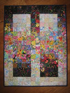 Art Quilt Garden Window Quilted Fabric Wall Hanging by TahoeQuilts