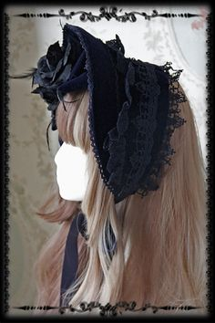 3 colors available including dark purple, navy blue and dark red Vampire Fashion, Lolita Fashion, Victorian Fashion, Vintage Fashion, Vintage Style, Gothic Lolita Dress, Head Accessories, Bridal Crown, Online Dress Shopping