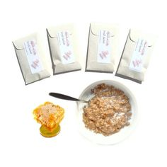 4 Oatmeal Milk Honey Scented Sachets by pebble creek candles, $12.00 #oatmeal #milk #honey #sachets