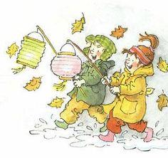 Nature Crafts, Fall Crafts, Envelope Art, Autumn Nature, Illustration, Paper Lanterns, Holiday Festival, Halloween, Diy For Kids