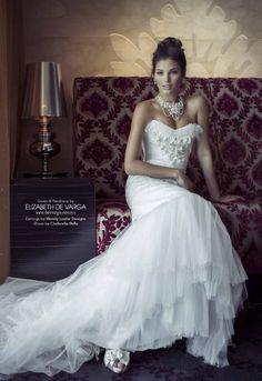 Love <3 ' Athena ' by Elizabeth de Varga Exclusive Fashions as seen in Modern Wedding Magazine