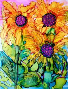"""""""Sunflowers 5"""" original fine art by Kristen Dukat"""