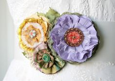 Colorful floral bridal sash in purple, yellow, red and green... pretty for a summer garden wedding.