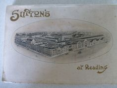 Back cover of Notes on a visit to Sutton's Royal Seed Establishment at Reading c1901-1910