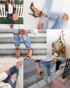 calça rasgada Ideias Fashion, Html, Blog, Closet, Destroyed Jeans, Legs, Pay Attention, Shoes, Beauty
