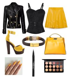 """Untitled #252"" by leah3000 ❤ liked on Polyvore featuring Zara, Balmain, Luichiny, Fendi, Trish McEvoy and MAC Cosmetics"