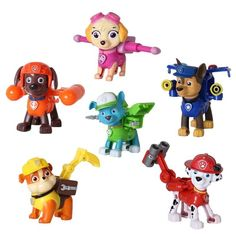 Action Anime Figure Toy Kids Gift 6Pcs Cartoon Patrol Puppy Dog Toys Children RL #ActionAnime