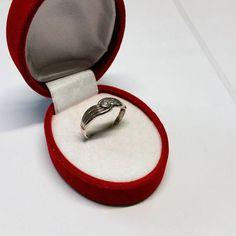 205 mm Ring Silber 925 Kristall Vintage SR812