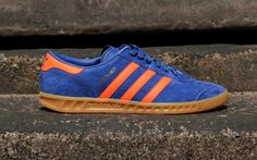 "Adidas Originals Hamburg Trainers ""Dublin"" - Royal Blue - Available to pre-order now at aphrodite1994.com #adidas #hamburg #sneaker #adiporn"