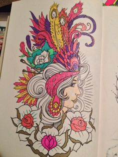 Megamunden Tattoo Coloring Book Tattoo Coloring Book, Coloring Book Art, Color Tattoo, Doodle Art, Artworks, Doodles, Lost, Ocean, Tattoos