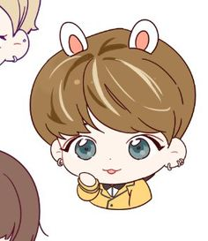 *☆°~Angels will fly to the moon~°☆* Bts Chibi, Park Jimin Cute, Bts Cute, Bts Gifs, Emoji Photo, Cartoon Fan, Kpop Drawings, Chibi Characters, Kpop Fanart