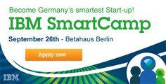IBM lädt am 26. September ins Betahaus Berlin, wo die schlausten Startups gegeneinander pitchen und sich für das europäische Finale in Wien empfehlen können.