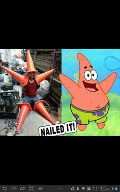 Spongebob Halloween Costume... Well actually Patrick but ok