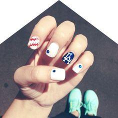 Dodgers Nails!!