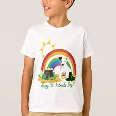 Jack Russell Terrier St. Patrick's Day Wishes T-Shirt