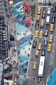 © Alex MacLean/Tumblr. Time Square, NY, vu d'avion.