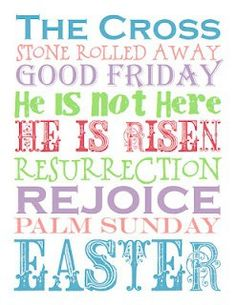 Power of Moms ~ I like her idea about a scripture/talk each day leading up to Easter