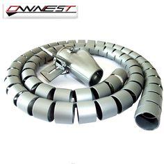 L1.5m OWNEST D15mm PE Protector de Cable de Ordenador Dispositivo De Almacenamiento Devanadera Del Cable de Auriculares Clip de Cable de Alambre de Gestión Organizador