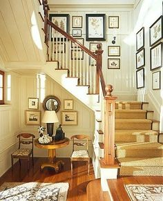 Carpet runner, so we get rid of wall to wall, but don't fall down the stairs on bare wood. Yes.. by dottti