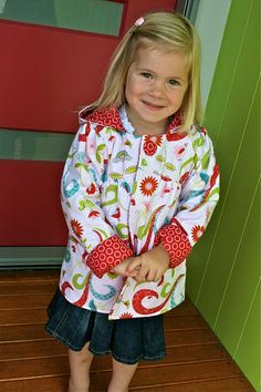 Sewing Projects For Children reversible jacket - free sewing pattern Sewing Patterns For Kids, Sewing Projects For Kids, Sewing For Kids, Baby Sewing, Free Sewing, Clothing Patterns, Sewing Crafts, Dress Patterns, Sewing Kids Clothes