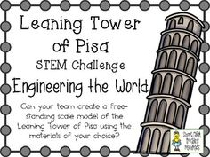 Leaning Tower of Pisa in Italy ~ Engineering the World ~ STEM Challenge Art Activities For Kids, Stem Activities, Multicultural Activities, Stem Projects, Science Projects, Italy For Kids, Brain Busters, Little Passports, Italian Lessons