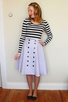 Cressida Skirt Ladies PDF Sewing Pattern Multi by Jenniferlauren