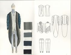 Fashion Sketchbook - fashion design drawings; creative process; fashion portfolio // Mengchen Yang