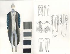 Fashion Sketchbook - fashion design drawings; creative process; fashion portfolio // Mengchen Yang