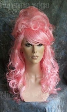 Light Pink Beehive Drag Queen Wig Costume Panto Stage Wigs UK | eBay