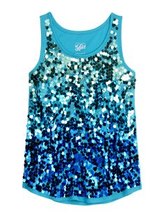 Girls Clothing | Tanks & Bandeaus | Sequin Embellished Tank | Shop Justice