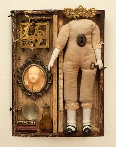 """""""For Which We Are Best Fitted"""" 2016 mixed media assemblage by Dianne Hoffman"""