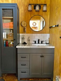 Rustic Home Bathroom Remodel – Rustic Crafts & Chic Decor Rustic Crafts, Rustic Decor, Cabin Bathrooms, Linen Cabinet, Vintage Windows, Upcycling Ideas, Diy Bathroom Decor, Cabinet Colors, Cabin Homes