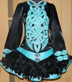 Teal & Black Irish Dance Solo Dress