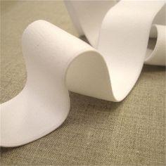 White Soft Lingerie Elastic 32mm Image 1