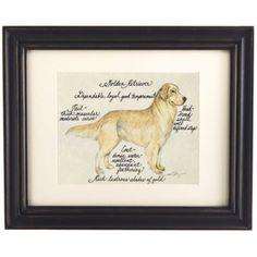 Golden Retriever Dog Print | Ballard Designs