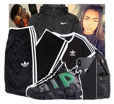 """"""""""" by tybkya ❤ liked on Polyvore featuring NIKE, MCM and adidas Originals"""