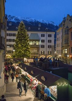 Beneath Innsbruck's famous Golden Roof, the city's Old Town hosts a festive christmas market with a medieval setting.
