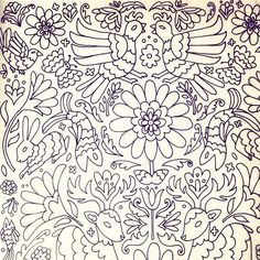 Another page for work. This one is inspired by otomi designs. Deadline for this huge project is on ...
