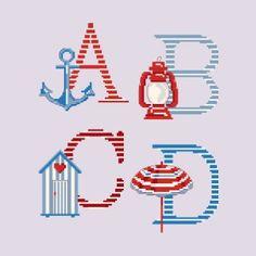 Le grand ABC «Rivages» à broder au point de croix les brodeuses parisiennes
