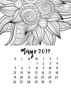 Calendario 2019 – Mama Inventiva Diy Agenda, Art Sketches, Bullet Journal, Notes, Printables, Scrapbook, Lettering, Graphic Design, Black And White