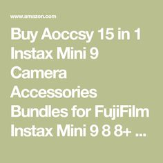 Buy Aoccsy 15 in 1 Instax Mini 9 Camera Accessories Bundles for FujiFilm Instax Mini 9 8 8+ Camera with Mini 9 Case/Album/Selfie Lens/Filters/Wall Hang Frames/Film Frames/Pen ETC (Chrysan Themum): Instant Cameras - Amazon.com ✓ FREE DELIVERY possible on eligible purchases Chocolate Panna Cotta, Instant Camera, Camera Accessories, Fujifilm Instax Mini, Free Delivery, Cameras, Filters, Lens, Frames