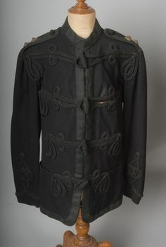 Victorian British Army Offr's Blue Patrol Tunic with Frogging & Lace