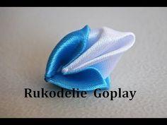 Двойной лепесток как сделать? Цветы из ткани Handmade DIY канзаши - YouTube