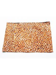 SALE:  Cotton Cloth Placemat- Orange Dot- Batik Block Print- Set of 4 #rusticloom