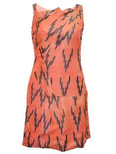 Akkaro Pink Shift Ikat Dress by Gaurav Jai Gupta / Rs.7200