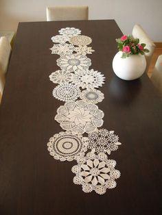 Decoración de mesa de boda Vintage tapete por WHITEStardust en Etsy