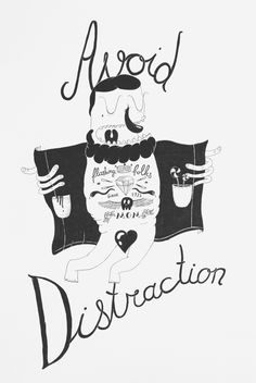 take a walk. avoid distraction. by Justas Cekauskas, via Behance