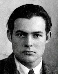 Ernest Hemingway's passport photo when he drove ambulances on the western front in WWI