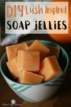 DIY Citrus Soap Jellies- These citrus soap jellies are good, clean fun and they are easy to make as well! Just a few ingredients and you can make them, too! Bath Jellies, Shower Jellies, Citrus Essential Oil, Citrus Oil, Essential Oils, Salt Scrub Recipe, Diy Beauty Projects, Diy Projects, Jelly Soap